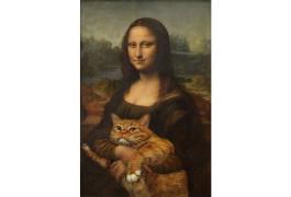 Мона Лиза завела кота