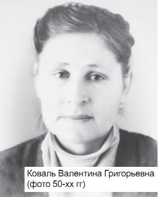 Коваль Валентина Григорьевна