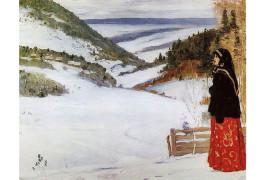 Зима в монастыре Михаил Нестеров