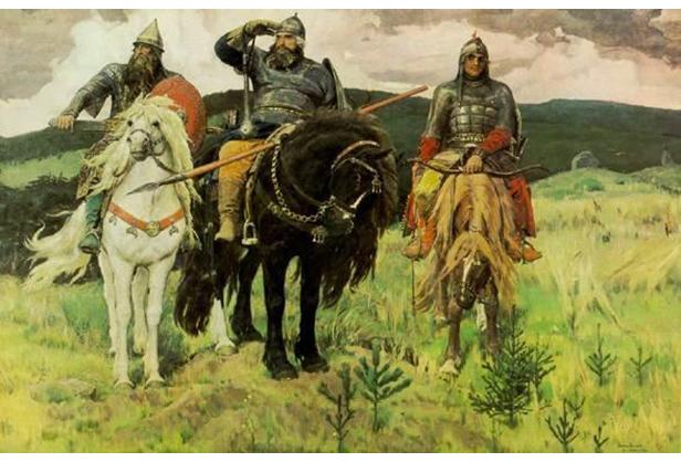Три богатыря, картина Васнецова