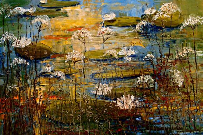 картина цветы и улитки, Юстина Копанья