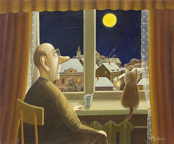Валентин Губарев картина с котом