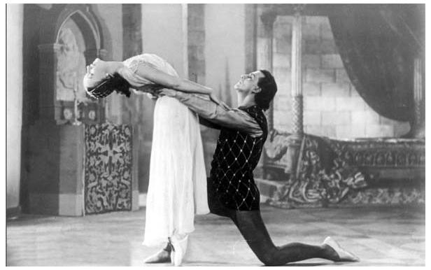кадр из фильма-балета Ромео и Джульетта