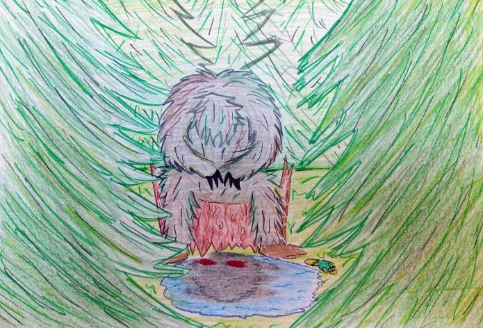рисунок лесного чудовища