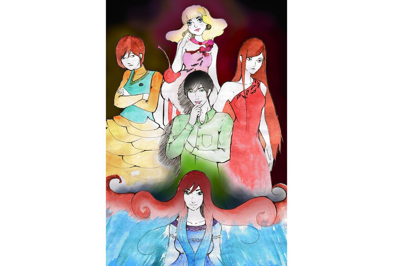 девушки с разноцветными прическами