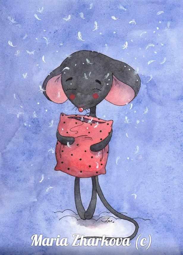рисунок Мышонок Марии Жарковой