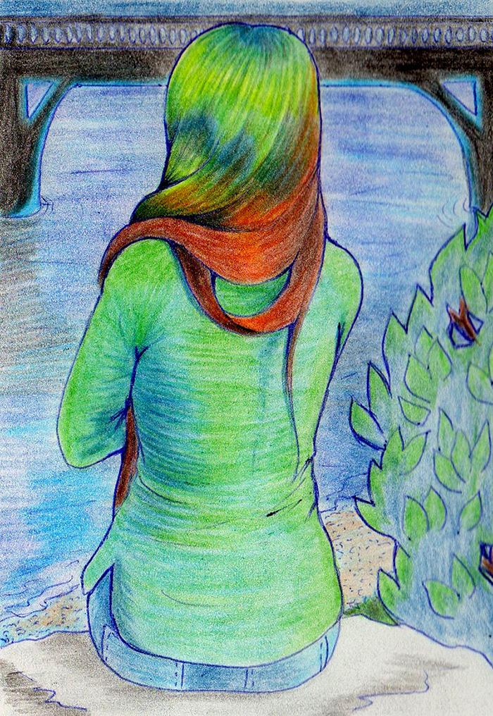 русалка рисунок